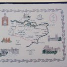 Vintage East England Sampler Historical Map Buildings Cross Stitch Pattern 29