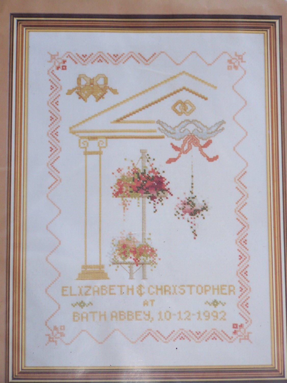 New Georgian Wedding Keepsake Cross Stitch Craft Kit 9213 Elizabeth Stuart