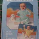 Vintage Baby Knit Sweaters Patterns Placket V Neck Crew Neck Pullovers 6 12 18 24 Months