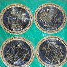New 4 Vintage State of Missouri Metal Coasters Decorative Souvenir Set