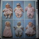 Uncut Sewing Pattern 3059 Baby Dolls Clothes 8 10 11 13 14 16 Inches FREE USA S&H