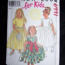 New Girls New Look Sewing Pattern 6491 Full Skirt Dress Christmas Easter Church Photo 3 4 5 6 7 8
