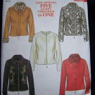 Uncut Sewing Pattern 6017 Unlined Misses Jackets Optional Fur Collar & Cuffs Penny Rug Stitching