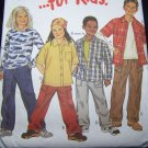 Uncut Sewing Pattern 6023 Childrens Long Short Sleeve T Shirt Button Up Pocket Pants 4 5 6 7 8 9