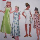 Uncut Girls 12 14 16 Easy Dress Sewing Pattern 2074 Short Sleeves or Sleeveless