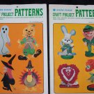 Free USA S&H 2 Snow Foam Spring & Fall Lot Craft Patterns Bunny Elf Heart Duck Styrofoam Sheets