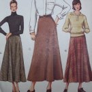 Uncut Vogue Sewing Pattern 7341 Misses Skirts Flared Slight Flare A Line Side Zipper 14 16 18