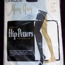Vintage Mary Grey Nylon Navy Blue Stockings Hose Hip Petters Elastic Top Sheer Opaque 8 1/2  9