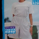 Uncut Misses Sewing Pattern 6260 L XL Pullover Top Wide Leg Shorts 16 18 20 22