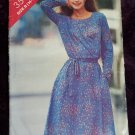 Uncut Misses 14 16 18 Long Sleeve Dress Elastic Waist Easy Sewing Pattern 3543