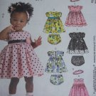 Uncut McCall's Sewing Pattern 5791 Infant Girls Dress Diaper Cover Headband S M L XL