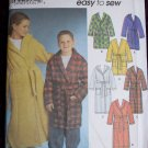 Uncut Girls & Boys Robe Sewing Patterns 9941 Hood or without 2 Length 7 8 10