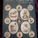 24 Vintage 1980's Country Folk Art Cross Stitch Patterns Book By Alma Lynne