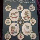 24 Vintage 1980's Country Folk Art Cross Stitch Patterns Book By Alma Lynne