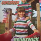 Vintage Brunswick Knitting Patterns Childrens 4 - 14 Pullovers Cardigans Coat + Book 835