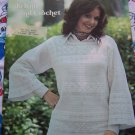 USA Free S&H Vintage 70's Crochet & Knitting Lace Sweaters Patterns 124