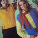 S&H Free USA Vintage 1980's Womens Sweaters Knitting & Crochet Patterns Cardigans Pullovers 169