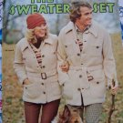 70s Vintage Knitting & Crochet Patterns Men Womens Sweaters Jackets Pullovers 2561