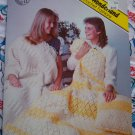 7 Afghans 2 Pillows Vintage Crochet Patterns Book Alice's Wonderland #3 Free USA S&H