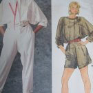 Uncut Vintage Vogue Sewing Pattern 1348 Misses Blouson Jumpsuit Shorts Romper