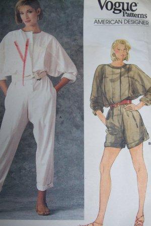 Uncut Vintage Vogue Sewing Pattern 1348 Misses Blouson Jumpsuit Shorts Romper
