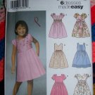 6 Uncut Girls Sewing Patterns 5704 Summer Dress Sundress 3 4 5 6 7 8 Free USA S&H