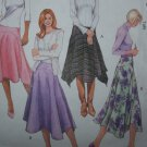 Uncut Sewing Pattern 4661 Misses Flared Skirts Handkerchief Hem 6 8 10 12