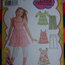 Uncut Girls Sewing Pattern 3771 Pullover Tie Back Dress Tunic Top & Capri Pants 7 8 10 12 14