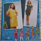 Uncut Girls Sewing Pattern 2983 Knit Summer Dress Sundress Tops 8 10 12 14 16