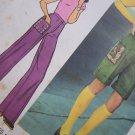 Uncut 1970's Sewing Pattern 7119 Misses High Waist Pants & Knee Shorts