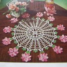 PDF File Vintage Crochet Pattern Flower Placemat Doily & Petal Coaster Glass Jacket 2-1