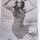1960's Vintage Crochet PDF File Pattern Crocheted Mini Lacy Twiggy Dress 6 8 10 12 14