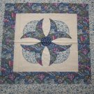 New Cotton Fabric Pillow Panel Ditzy Blue Flowers & Butterflies on Cream