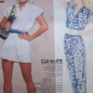 Uncut Vintage Sewing Pattern 2391 Brooke Jumpsuit Romper Pants or Shorts Length 10 12 14