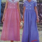 Uncut Sewing Pattern P333 Misses Sailor Collar Dress Short Sleeves or Sleeveless  8 10 12 14