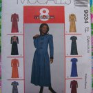 Uncut McCall's Sewing Pattern 9034 Plus Size Misses Shirtdress 18 20 22