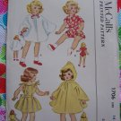 "Vintage 14"" Doll Clothes Sewing Patterns Uncut Original Collectible McCalls 1706 NEW"