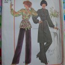 Uncut Misses Sewing Pattern 7714 Oriental Stand Up Collar Tunic Top Full Sleeve Wide Pants 10 12