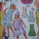 Uncut Sewing Pattern 4721 Girls 7 8 10 12 14 Summer Dress Sundress Hat Lizzie McGuire
