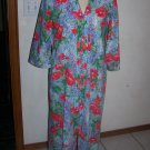 Vintage Womens Sears 70's Take  A Long Bath Robe Housecoat Duster Bright Floral