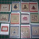 12 Lot of Vintage Cross Stitch Patterns Greeting Cards Country Needlepoint