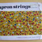 "Vintage Calico Cotton Fabric APRON STRINGS 1"" wide x 15 feet long"