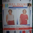 Uncut Simplicity Sewing Pattern 7034 Womens Tops 9 Design Your Own Shirts 18 20 22 24
