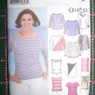 Uncut Simplicity Sewing Pattern 7222 Misses Easy 1 Hour Pullover Tops Shirts 8 10 12