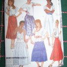 6 Misses Skirts Waist 28 inches Sz 14 Uncut Vintage McCall's Sewing Pattern 2037