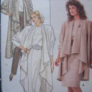 Free USA S&H Uncut Vintage Misses 6 8 10 Drape Front Coat Straight Skirt Pants Sewing Pattern 5848