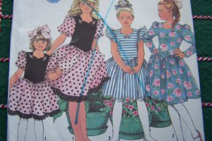 Uncut Vintage Girls 7 8 10 12 14 Fancy Church DRESS Holiday Party Sewing Pattern 7077
