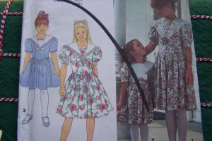 Free USA S&H Vintage Uncut Girls 3 4 5 6 Gunne Sax Dress Jessica McClintock Sewing Pattern 8255
