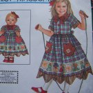 "Uncut Simplicity Daisy Kingdom Sewing Pattern 9354 Girls & 18"" Doll Dress 7 8 10 12 14"