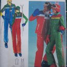 70's Womens Ski Bibs Jumpsuit Jacket Vest Water Repellent Quilted Fabric Vintage Sewing Pattern 5110